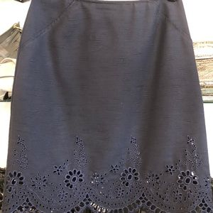 BAZAR de CHRISTIAN LACROIX Navy Wool Blend Skirt